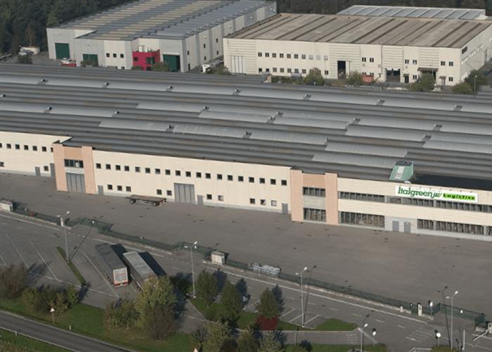 Entrepôt logistique gazon synthétique italgreen